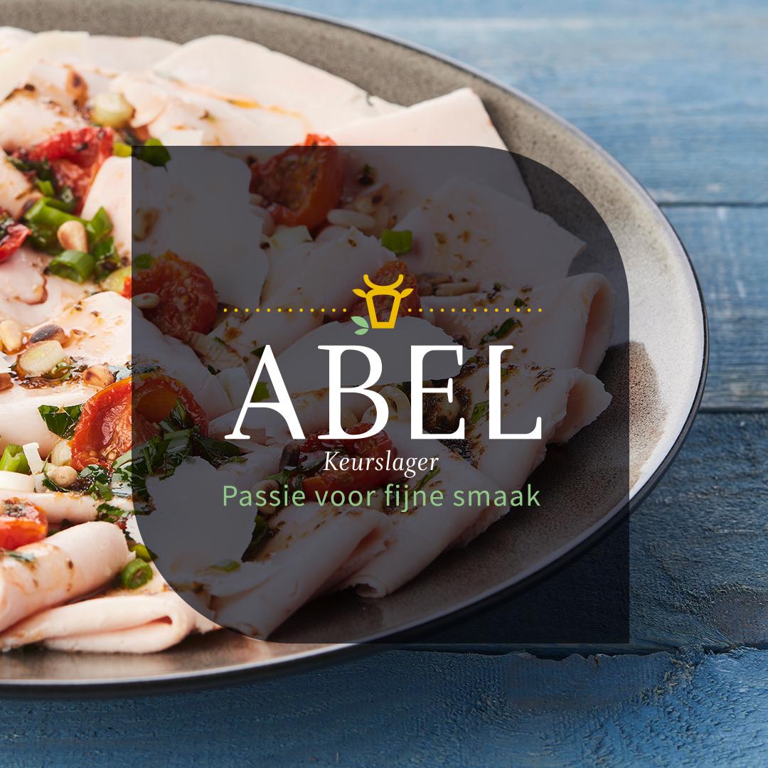 Logo Abel op foto
