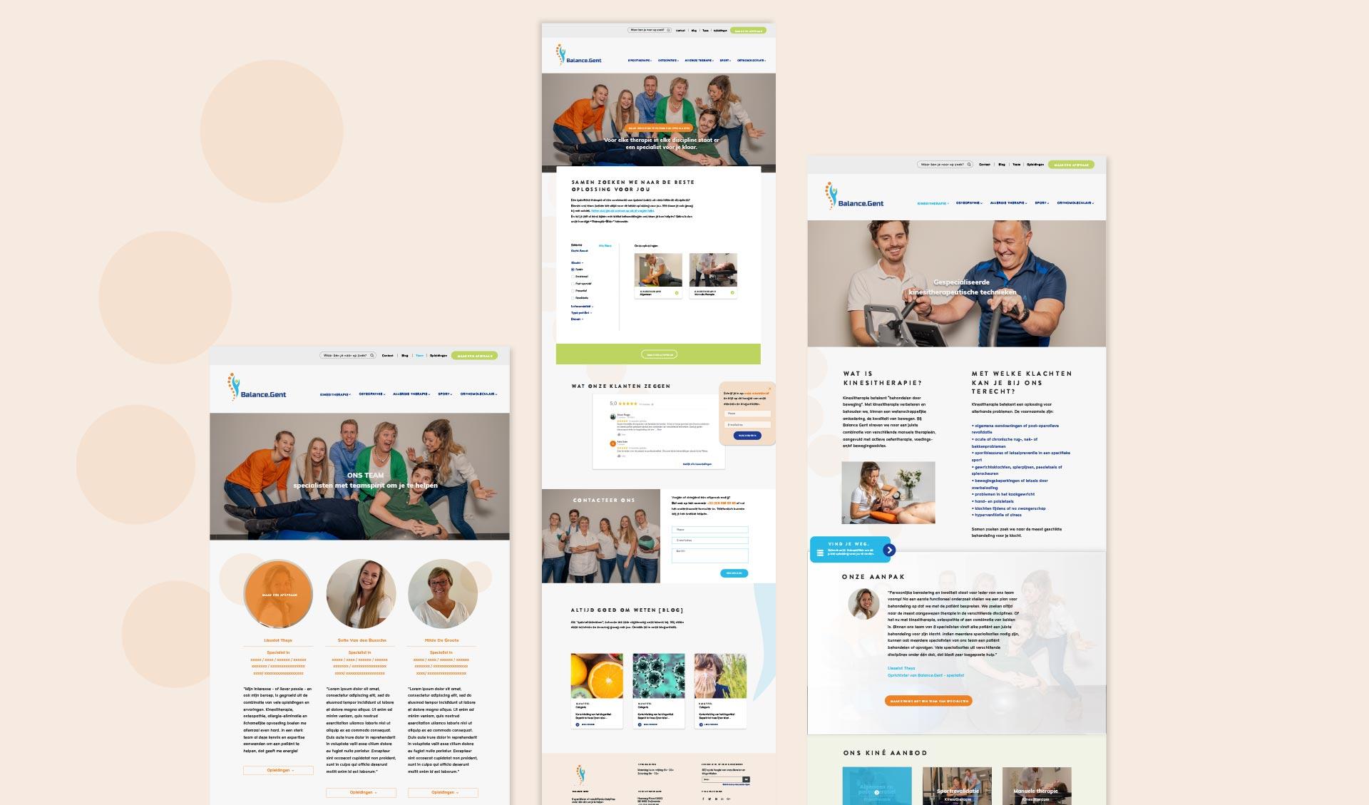 balance.gent webdesign lay-out